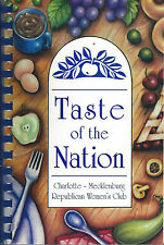 CHARLOTTE *MECKLENBURG NC 1999 REPUBLICAN WOMEN'S CLUB COOK BOOK TASTE OF NATION