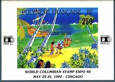 "POLINESIA FRANCESE - BF - 1992 - ""World Columbian Stamp Expo '92"" a Chicago"