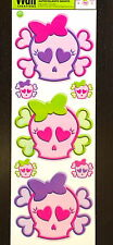 Groovy Girly Skull Crossbones Stickers Wall Decals Decoration Decor