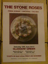 The Stone Roses 2013 Glasgow concert gig poster Primal Scream Jake Bugg The View