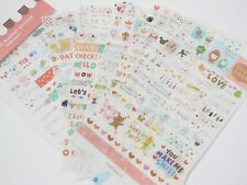 Kawaii Diary Deco Transparente Kitsch Scrapbooking Lindo Coreano Sticker Set 6 Pgs