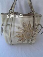 AUTHENTIC COACH AUDREY SUNFLOWER CINCHED CANVAS TOTE #19577  GUC