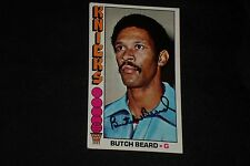 BUTCH BEARD 1976-77 TOPPS SIGNED AUTOGRAPHED CARD #6 NEW YORK KNICKS