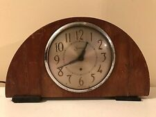 Antique Sessions Electric Mantle Shelf Clock for Parts