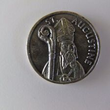 St Augustine Holy Medal Take Care of Your Soul Catholic Religious Patron