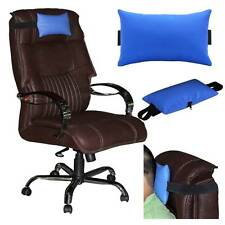 ACM-LEATHER CUSHION PILLOW HEAD & NECK REST for FULL BACK EXECUTIVE CHAIR BLUE