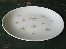STAR GLOW Royal China Mid Century Modern CHOP PLATTER Vintage OVAL SERVING PLATE