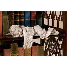 Set of 2: Sleeping Cherub Nap Time Baby Angel Home Statue Sculpture