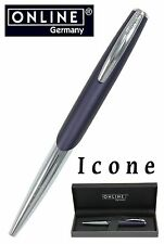 ONLINE Pens / Icone Night Blue Ball Point Pen #30209 / Gift Boxed