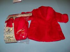 Springfield Collection Red Faux Fur Coat NIP fits American Girl