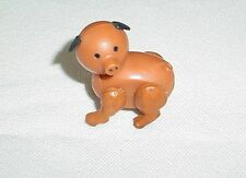 Vintage Fisher Price Little People Brown Pig For Farm Western Town Hex Screw