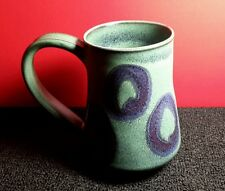 Mug Itsuko Ishiguro Ceramic Pottery Green And Blue Clay