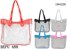 See-Thru Clear Jelly Plastic Tote Purse Bag- BEPU 488