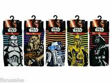 5 Pairs Men's Official Disney Star Wars EP7 Character Socks Size: UK 6/11