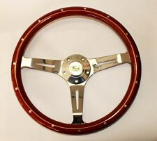"14"" Bronco F100 F150 F250 F350 Truck Classic Wood Steering Wheel Ford Center"