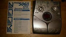 Zoom 505II Bass Multi Effects Processor Tuner Amp Simulator Guitar Effect Pedal