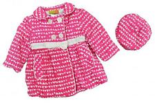 Penelope Mack Infant Girls Pink & White Corduroy Jacket W/Hat Size 24M