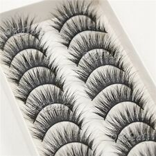 New 10Pairs Beauty Long Natural Makeup Black Handmade Thick Fake False Eyelashes