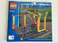 Lego 60052 New Cargo Crane & Loading Dock Only+ Straight RC Train Track City