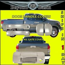 2007-2013 Tundra Chrome 4 Door Handles (2 Large, 2 Small)+Tail Gate Cover