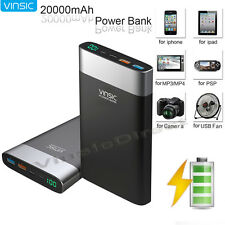 20000mAh Portable Battery Charger QC 3.0 Quick 2 USB Type C External Power Bank