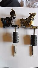 Cast iron Tattoo Machine liner 10 wrap coils & shader 10 wrap coils & grip tips