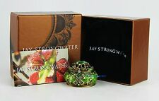JAY STRONGWATER AUGUST PERIDOT BIRTHSTONE TRINKET BOX SWAROVSKI NEW MADE IN USA