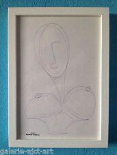 Raymond TRAMEAU Dessin de 1960 Encadré blanc Modigliani Érotique Nue Organique