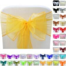 Various colours All Events Organza Chair Cover Sash Bow  Wedding Birthday Party