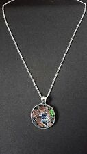"Jaguar Big Cat Pendant On 18"" Silver Plated Fine Metal Chain Necklace Gift N476"