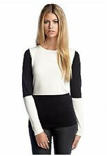 VINCE CAMUTO Black & White Checkerboard Crew Neck Sweater ( SMALL ) NWT $79.00