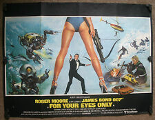 James Bond - For Your Eyes Only, Orig 1981 British Quad Movie Film Cinema Poster