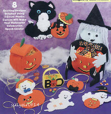 """8~GREAT HALLOWEEN DESIGNS""~Plastic Canvas PATTERN  BOOK ONLY~SEE PICTURES"