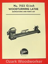 Atlas 7122 Wood Lathe Instruction & Parts Manual 0027