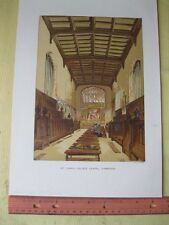 Vintage Print,ST.JOHNS COLLEGE,Cambridge,Charles Knight