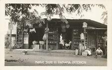 Panama * Native Store in Panama Interior RPPC ca. 1940s * Lucky Strike Cigarette
