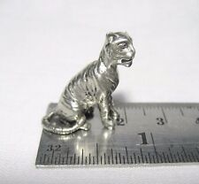 Tiny Miniature Pewter Tiger Figurine FREE SHIPPING