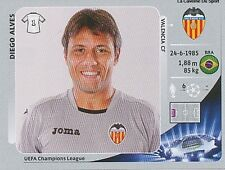 N°391 DIEGO ALVES # BRAZIL VALENCIA.CF CHAMPIONS LEAGUE 2013 STICKER PANINI