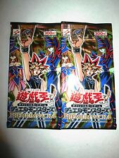 YU-GI-OH JAPANESE PREMIUM #4 BOOSTER (2-PACK LOT) KONAMI JAPAN