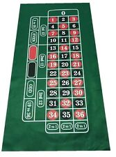 HUGE ROULETTE BAIZE / FELT - Layout - Baize + 100 NUMBERED CHIPS