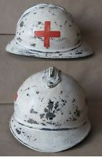 WWI FRENCH ADRIAN HELMET MODEL 1915 M15 / MEDICAL CORPS / PARAMEDICS