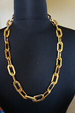 NEW Designer Rachel Zoe Gold Long Chain Link Necklace GORGEOUS HARD2FIND