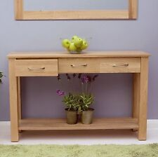 Nara console table solid oak hallway living room furniture