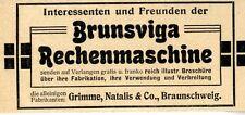 Brunsviga Rechenmaschine Historische Annonce 1906