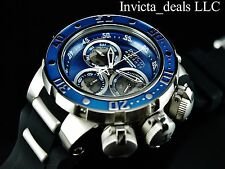 Invicta 52mm VENOM Sea Dragon Swiss Made Chronograph Silver/Blue Tone SS Watch