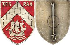 355° Régiment d'Artillerie Automobile, émail, voilier, D.Ber.Dep. (6666)