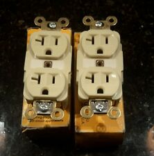 HUBBELL HBL5362I DOUBLE DUPLEX IVORY 125V 20AMPERS (LOT OF 2) NEW $25