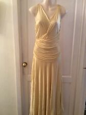 LA PERLA  Made In Italy Lemon Maxi Long Dress, Size 42