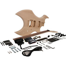 Premium Warlock Style DIY Electric Guitar Kit - Unfinished Luthier Project Kit