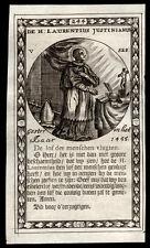 santino incisione 1600 S.LORENZO GIUSTINIANI PATR. DI VENEZIA